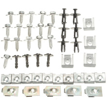 44pcs/set Car Styling Undertray Engine Under Cover Splash Guard Undertray Screw Trim Clip Set For BMW E46 3 Series