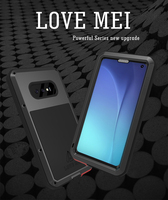 Love Mei Powerful Shock Dirt Proof Water Resistant Metal Armor Cover Phone Case for Samsung Galaxy S10/S10 Plus/S10 Lite/S10e