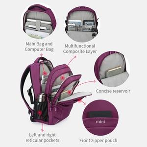 Image 3 - Mixi Women Backpack Men Travel Shoulder Bag Laptop Backpack Boys Girls Student Book Bag Waterproof Black Purple 18 Inch M5160