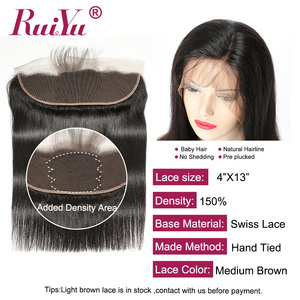 Image 3 - Brazilian Straight Hair Bundles With Frontal Non  Remy Human Hair Bundles With Closure RUIYU Hair Weave Bundles With Closure