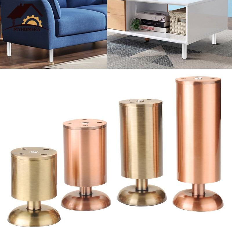 Myhomera Furniture Feet Leg Adjustable 80mm-150mm Cabinet Sofa Legs 150-250KG Load Cupboard Coffee Table Bathroom Protect Foot