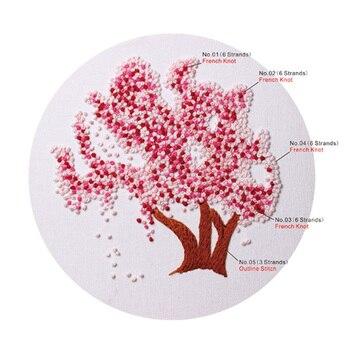 Diy embroidery plants cherry tree