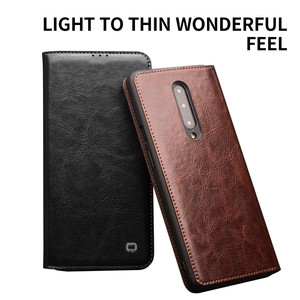Image 5 - QIALINO Luxurious Genuine Leather Phone Case for OnePlus 7 6.41 inch Business Style Handmade Cover for OnePlus 7 Pro 6.67 inch
