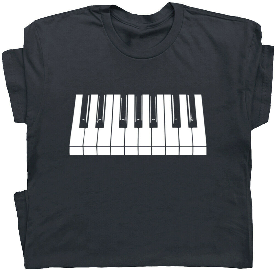 Piano Keyboard T-Shirt Beethoven Mozart Keytar Keys Cool Pianist Player Gift cool O Neck Tops Tee Shirt image