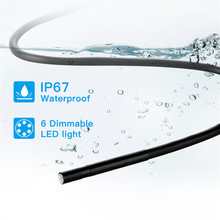 IP67 Waterproof 5.0MP Inspection Cameras 5.5mm WIFI Endoscope Camera Hard Cable 6 LED Endoscope Borescope for IOS Android