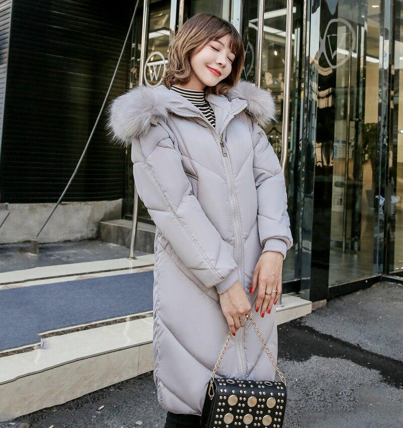 2019 High Quality Winter Jacket Women Hooded Fur Collar Warm Thicken F_A9_10