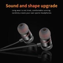 Metal Bass Sound Earphone In-Ear Sport Earphones with mic for xiaomi Samsung HUAWEI Headset fone de ouvido auriculares MP3 цена в Москве и Питере