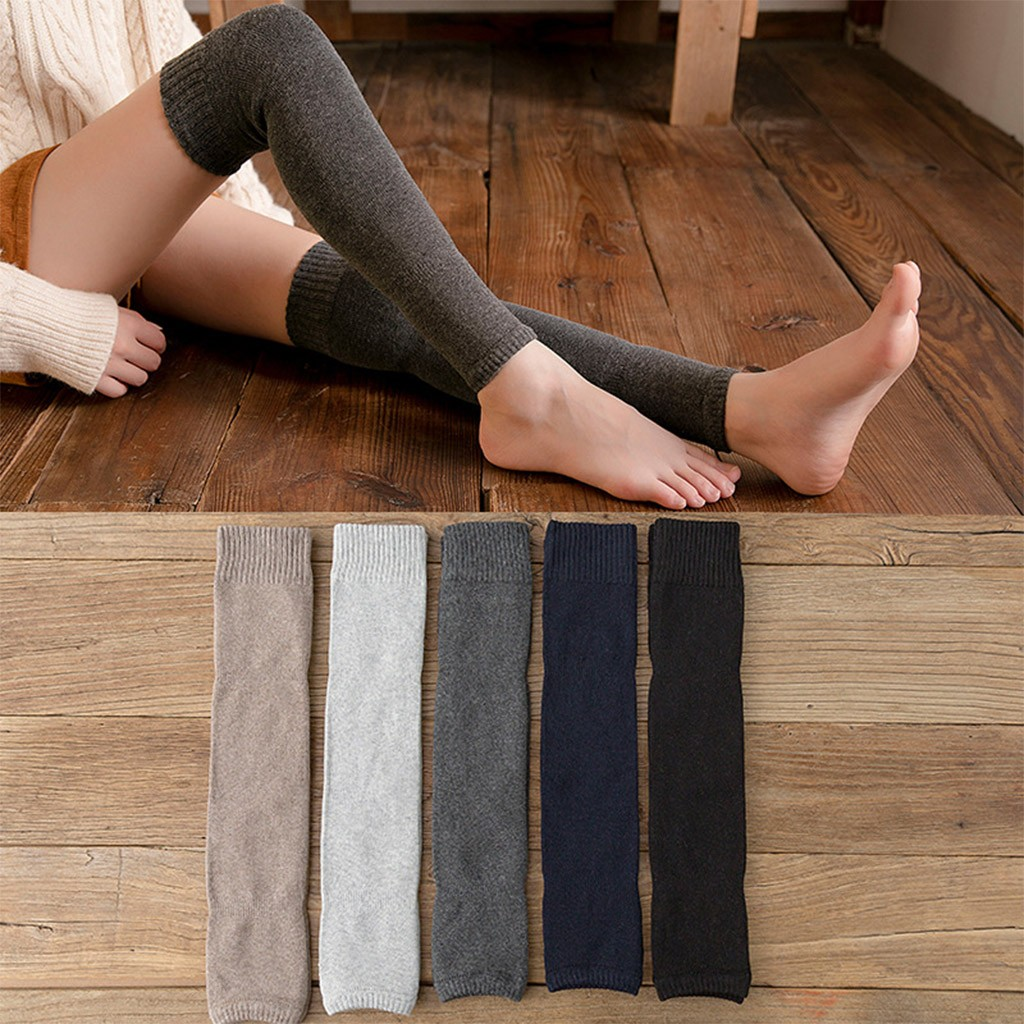 Winter 2020 Men's Women's Thick Legs Warm Legs Velvet Knee Socks Dropshipping Ins Wind Fashion Style Selling Western Style