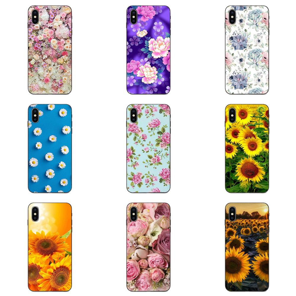 Peony Sunflowe Flower <font><b>Vertical</b></font> Phone <font><b>Case</b></font> For <font><b>Xiaomi</b></font> <font><b>Mi</b></font> Mix Max Note 2 2S 3 5X 6 6X <font><b>8</b></font> 9 9T SE A1 A2 A3 CC9e Lite Play Pro F1 image