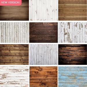 Wood Backdrop for Photography Food Baby Portrait Photography Backdrops White Brown Christmas Wooden Background for Party Decor
