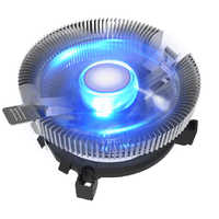 Universal desktop computador pc azul luz led alumínio dissipador de calor cpu cooler ventilador de refrigeração para lga 775 1150 1155 1156 amd