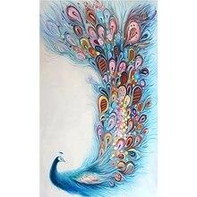 Diamond Painting 5D DIY Paintings Decoration Diamond Blue Peacock Cross Stitch Home Decor Diamond Embroidery Diamond цена 2017