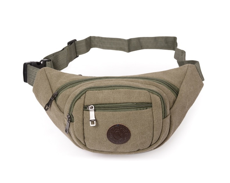 New Style Men Canvas Sports Waist Pack Women's Casual Fashion Large Capacity Storage Cash Storage Wallet