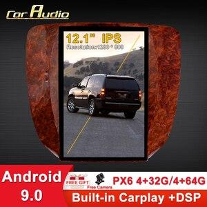 Автомобильный мультимедийный плеер, Android 9 для GMC Yukon / Chevrolet Tahoe silverado 2007-2012, радио, стерео, Tesla экран PX6, аудио, GPS, Wi-Fi