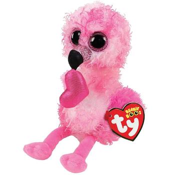 Ty pluszowe zwierzę lalka Gilda Flamingo miękkie nadziewane zabawki 15cm tanie i dobre opinie CN (pochodzenie) Tv movie postaci COTTON 3 lat Genius bird Pluszowe nano doll Miękkie i pluszowe Unisex For Age 3+