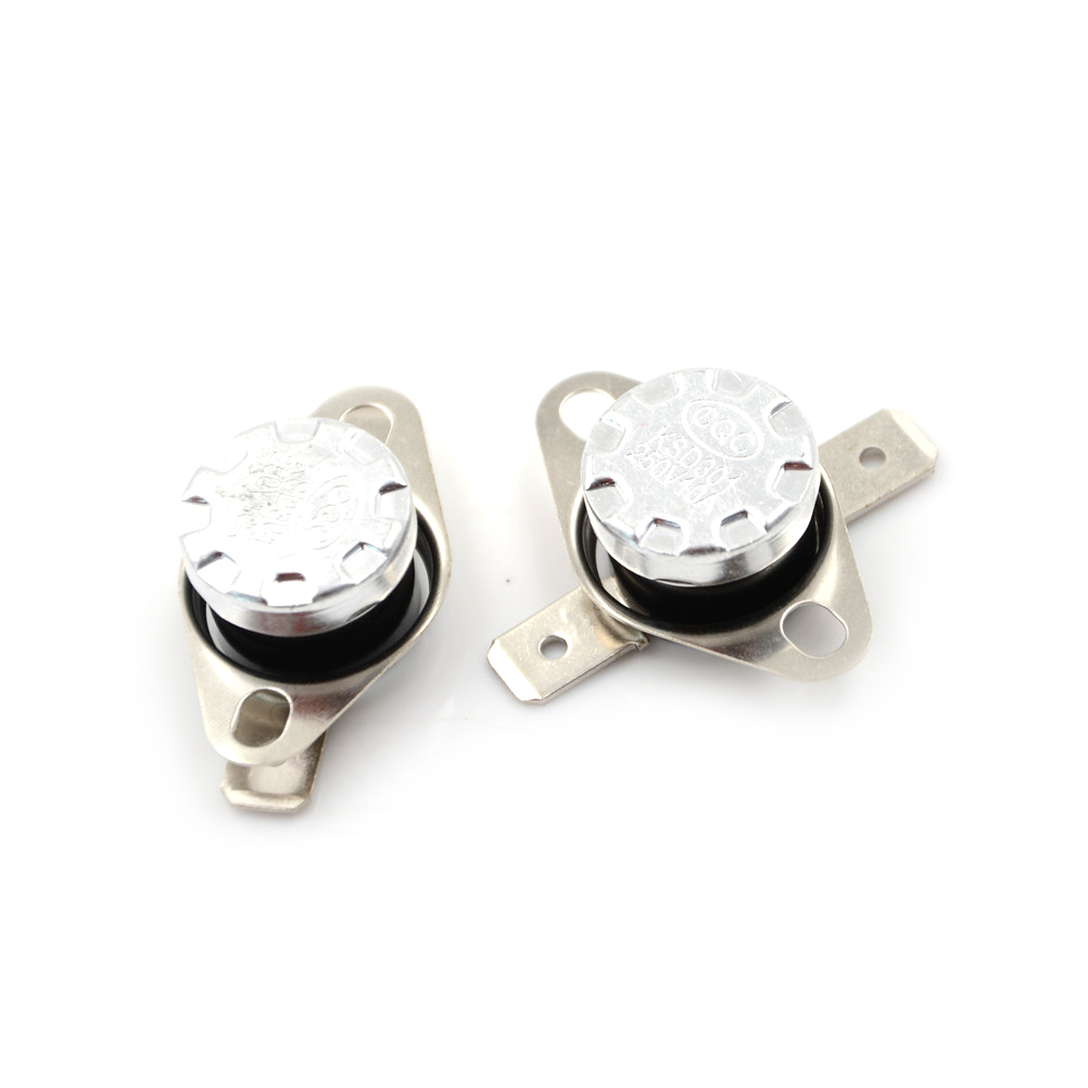 2pcs/lot Temperature <font><b>Thermal</b></font> Control <font><b>Switch</b></font> KSD301 <font><b>250V</b></font> <font><b>10A</b></font> Normally Closed NC Thermostat Deg.C 30-160 Temperature <font><b>Switch</b></font> image