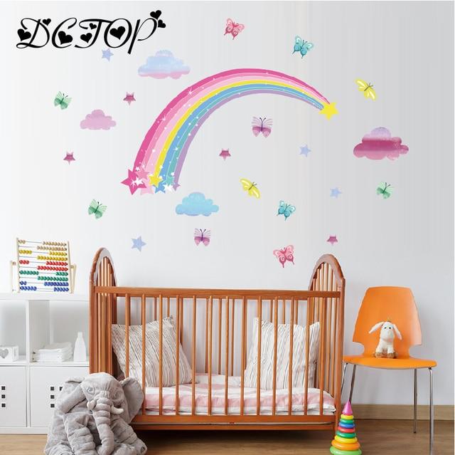 Pretty shining stars on rainbow cl