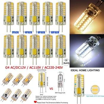 G4 3014 LED Light Bulb Lamp AC DC 12V 110V 220V 3W Replace 20W Halogen Corn Bulb Light Warm Cool White 360 Beam Angle Party Lamp lkltfx hot sale ac 12v led lamp g4 corn bulb cob ac 220v smd 2835 3014 led light 360 degrees beam angle spotlight lamps bulb