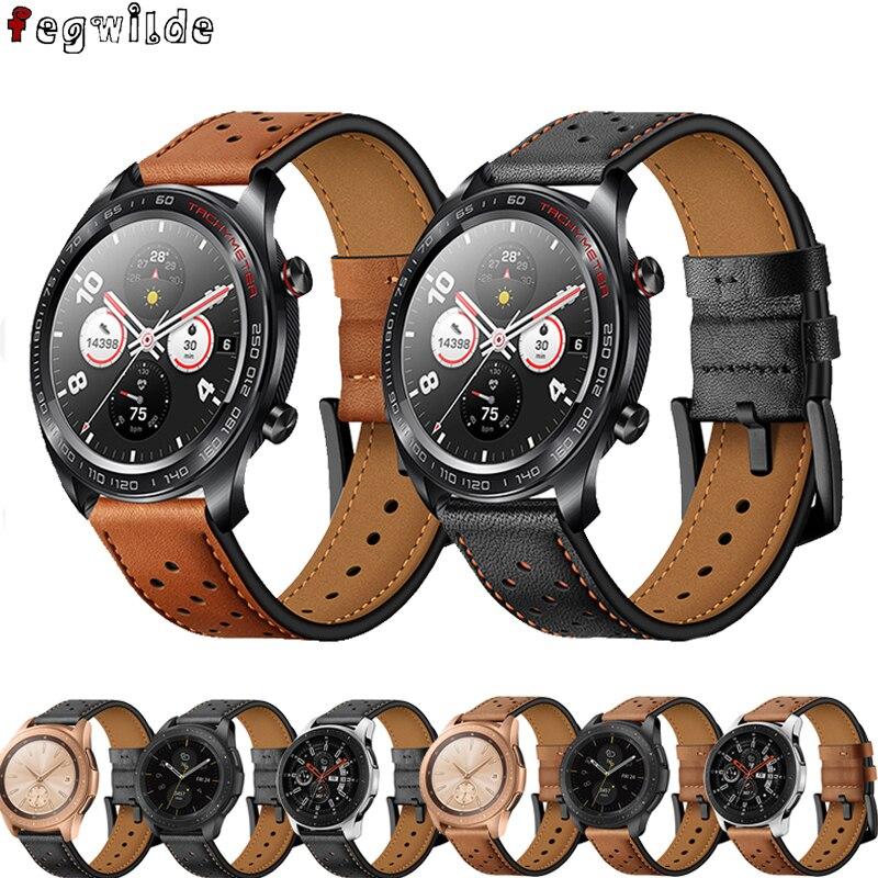 Strap For Samsung S3 Frontier Galaxy Watch 46mm Amazfit Bip Huawei Watch Gt Strap 22mm Watch Band Leathe Belt Watchband Gear S 3