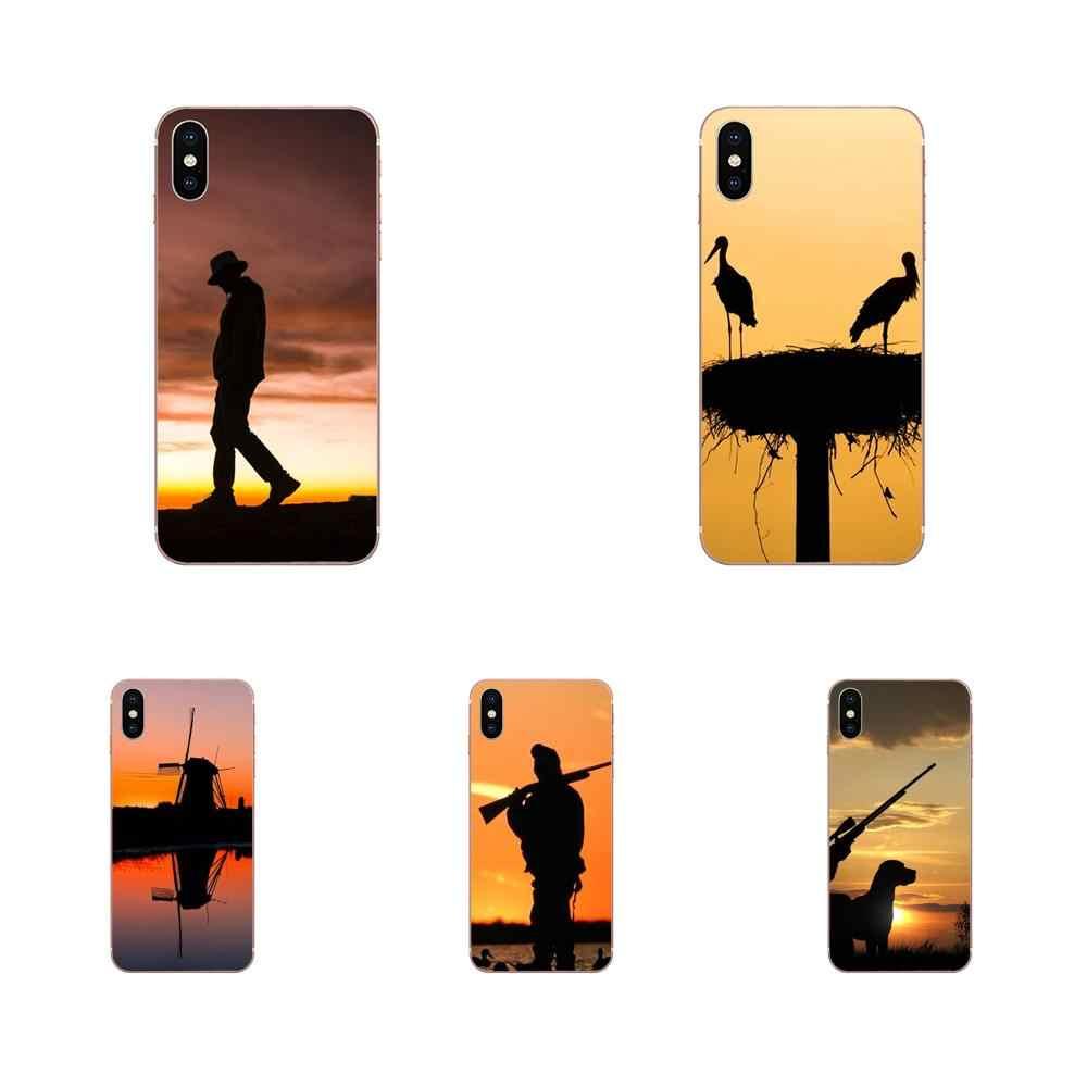 Закат утка Охота крутые логотипы мягкий модный мобильный телефон для huawei P7 P8 P9 P10