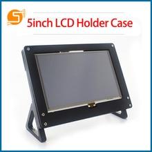 S ROBOT 5-inch Screen Protective CaseBlack White LCD Stand Bracket for Raspberry Pi  3 Model B Plus RPI173
