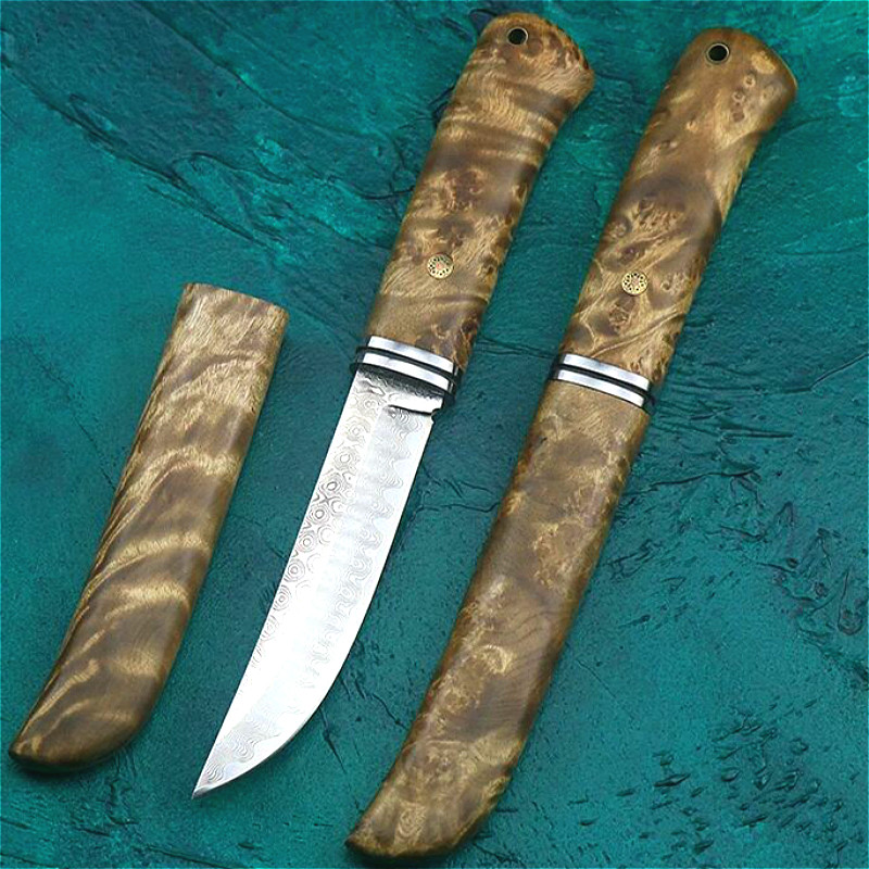 Knife Knife Knife Knife Hunting Samurai Outdoor Tactical Damask Collection Rescue Shadowwood Jungle Japanese Steel Samurai
