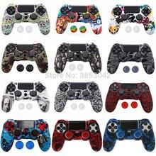抗スリップシリコーンソニーのプレイステーションデュアルショック 4 PS4 プロスリムコントローラ + 2 親指スティックグリップキャップ