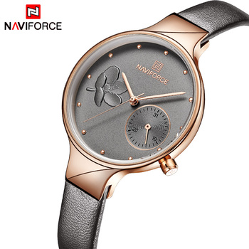 NAVIFORCE Women Watches Top Brand Luxury Fashion Female Quartz Wrist Watch Ladies Leather Waterproof Clock Girl Relogio Feminino 1