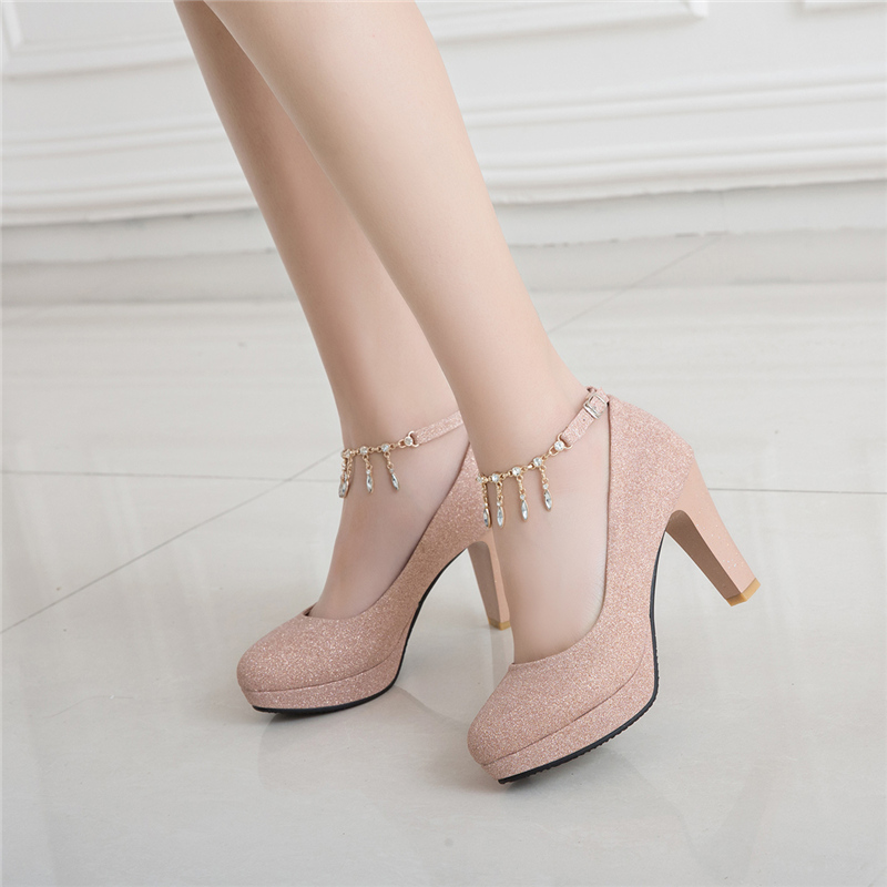 Fashion Female High Heels Sexy Shoes Luxury Gold Silver Pink Women's Heels Pumps Party Office Wedding Shoes New Designer 2