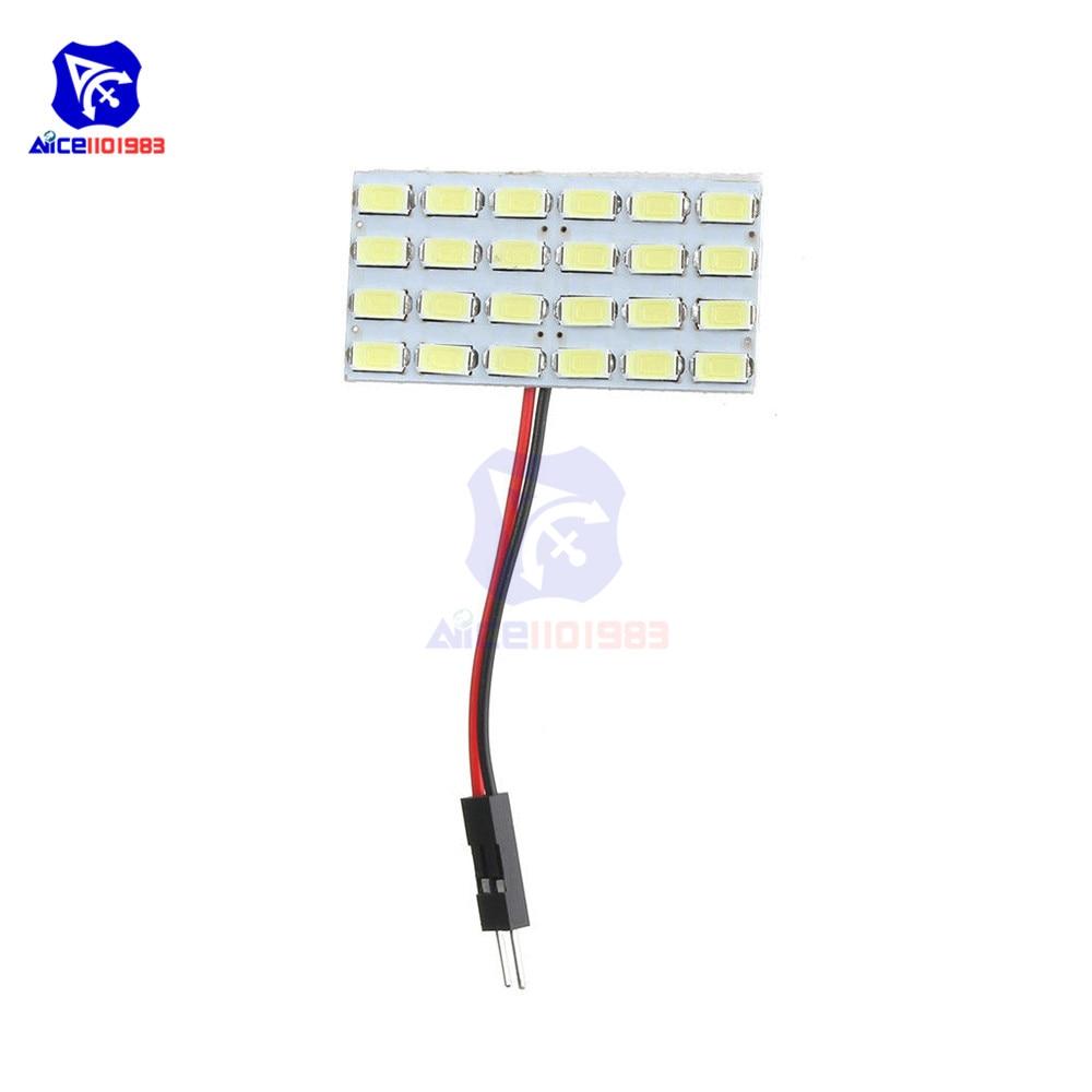 diymore 3W 5730 24 SMD LED Board for RV Camper Light Bulb Home Reading Light Marine Lamps DC 12V