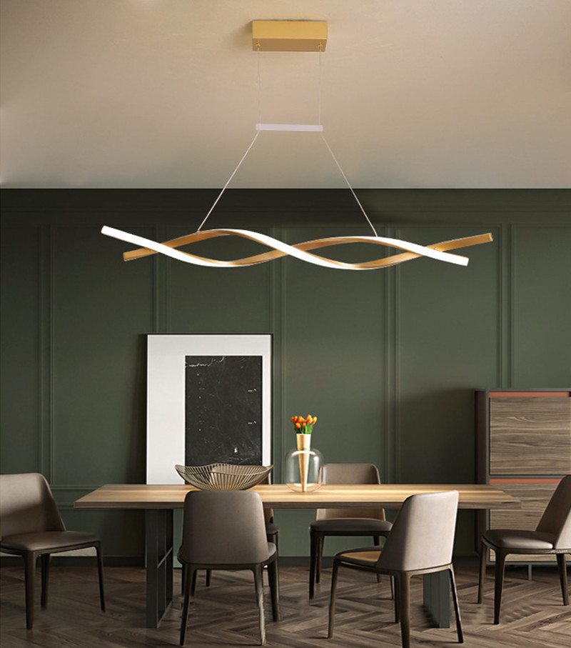 Gold ultra-modern LED Lights Chandeliers - Ceiling Light Fixtures