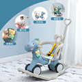 Детская утолщенная лошадка-качалка  пластиковые игрушки для животных  лошадка-качалка с ремнем безопасности  кресло-качалка для детей