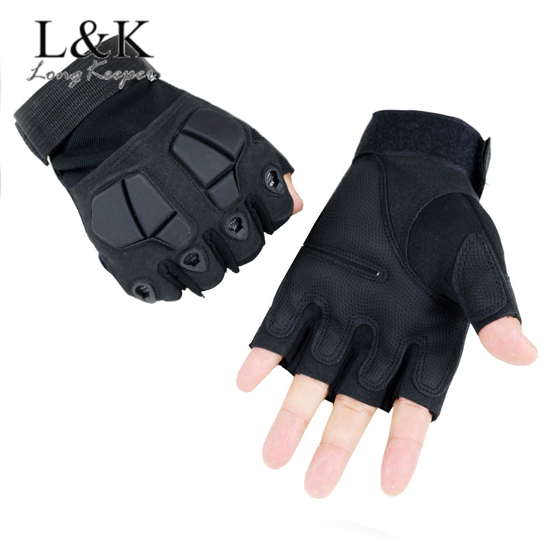 Tactical Gloves Hard Knuckle Half Finger Gloves Men's Airsoft Paintball Combat Shooting Mittens Outdoor Fingerless Luvas Eldiven