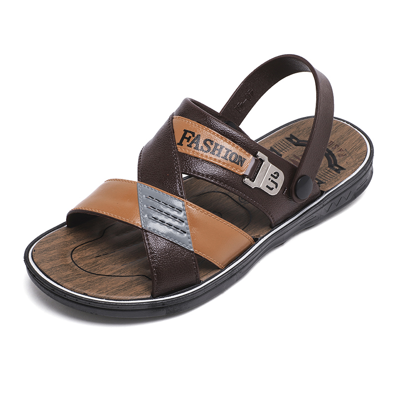 Casual Shoes Men Leather Sandals Summer Classic Shoes Slippers Soft Sandals Buty Meskie Comfortable Walking Footwear