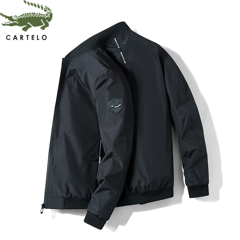 CARTELO men jacket fashion autumn new breathable stand collar solid color casual jacket men мужская одежда