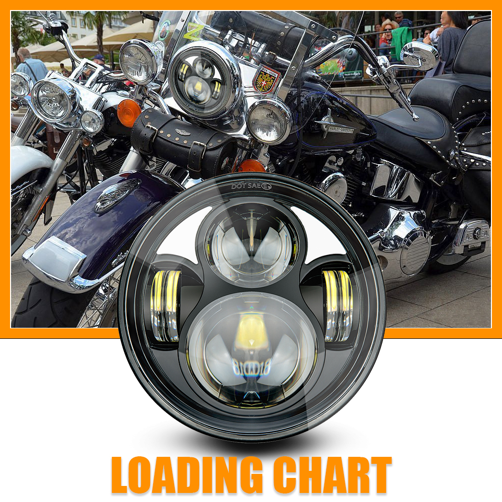 LED Headlight 5 75 inch Hi Low Beam Parking Light with Bracket for Yamaha Bolt Raider Stryker SCR950 Warrior in Car Light Assembly from Automobiles Motorcycles