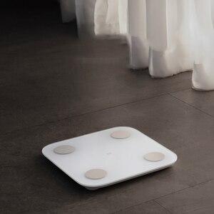 Image 5 - Xiaomi Mi חכם גוף שומן בקנה מידה 2 Bluetooth 5.0 איזון מבחן גוף תאריך BMI בריאות משקל שקילה צג LED תצוגה
