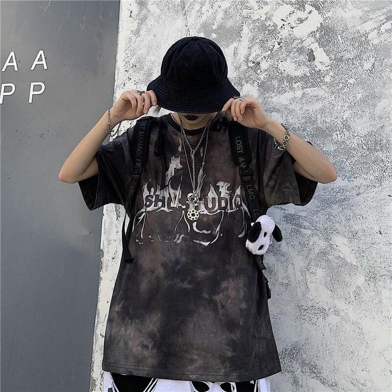 Short Sleeve O-Neck Harajuku Fashion Tshirt Streetwear M
