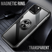 Car Holder Ring Case On the For iPhone 11 pro max XR XS Max X 6 6s 7 8 Plus Case Luxury Shockproof Armor Clear Back Cover Coque цена и фото