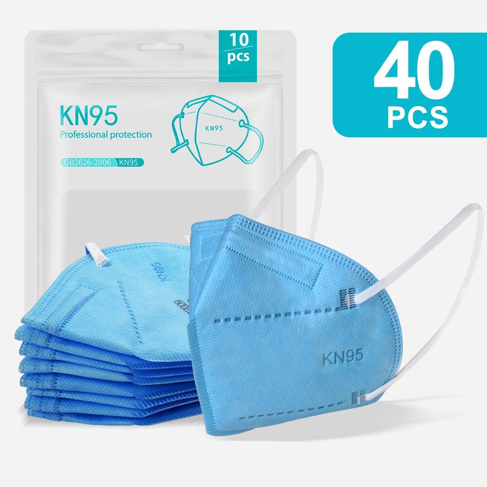 40PCS Bllue-KN95