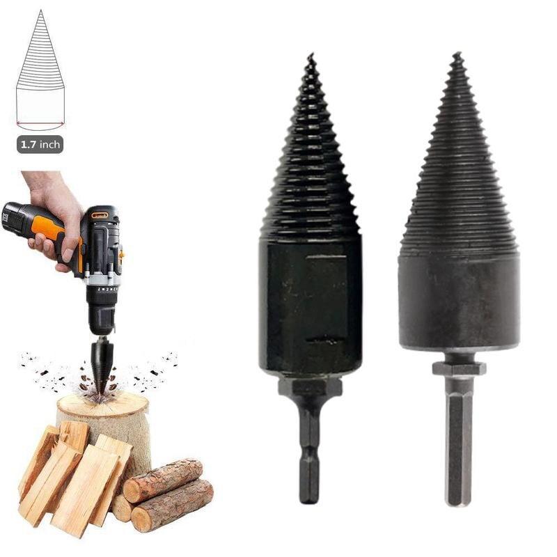 Hex Shank Firewood Splitter Machine Drill Wood Cone Driver Bit Reamer Tools Drilling Drill Punch Split