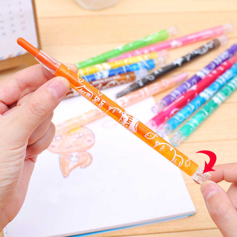 8//12//24//48//64 Color Crayon Oil Painting Art Supplies School Silk Smooth L2Q6