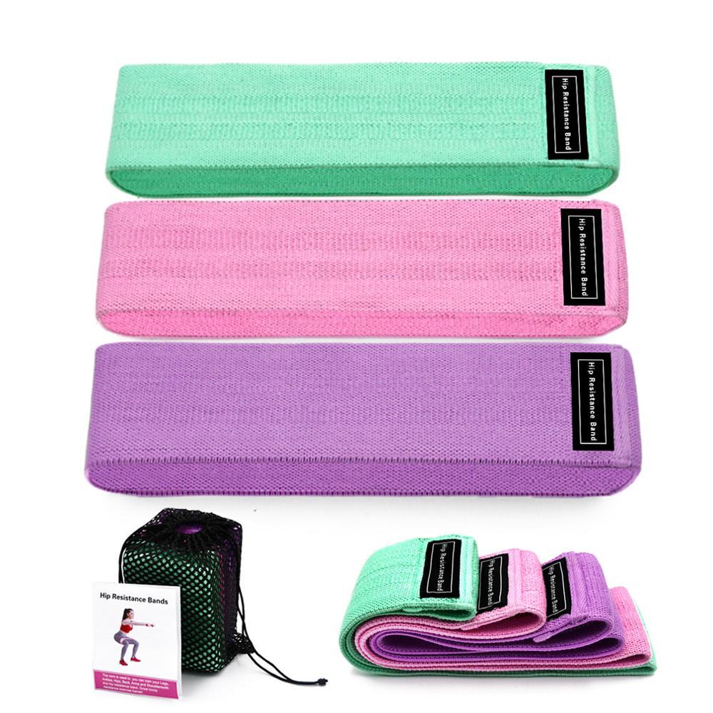 3 PCS/Set Circle Hip Resistance Bands Training Expander Gym Yoga Pilates Leg Workout Elastic Rubber Bands Fitness Equipment