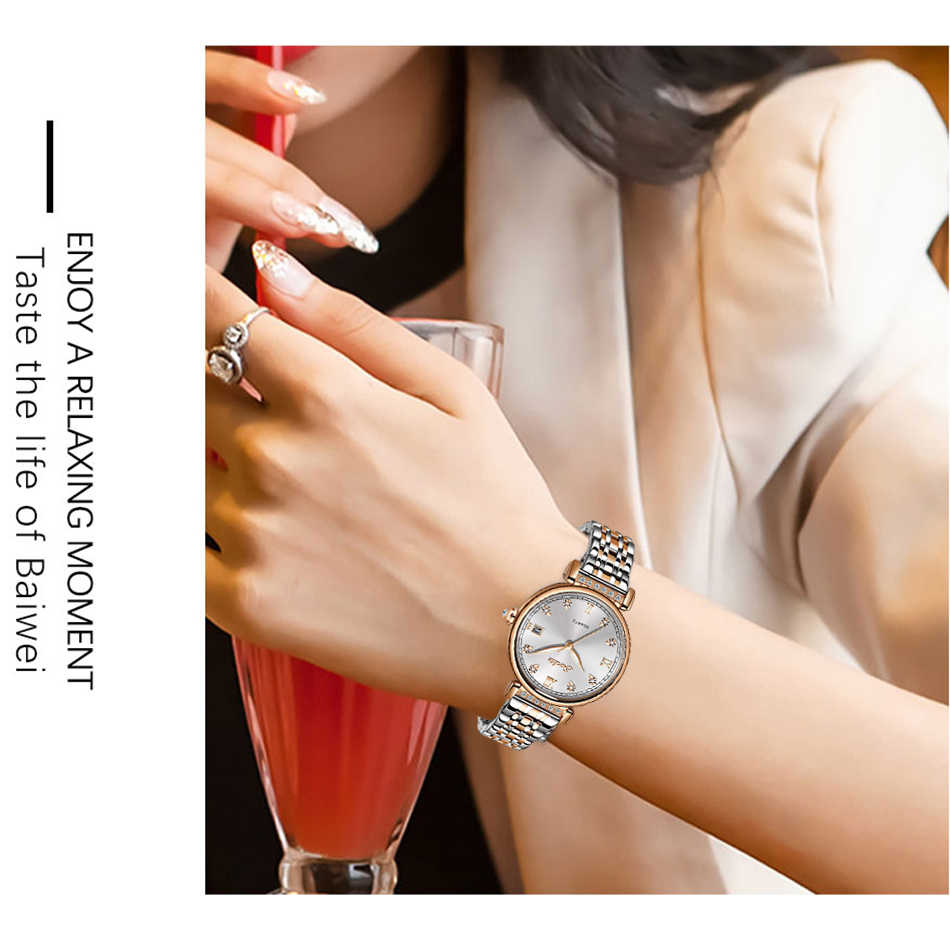 SUNKTA 2020 אישה שעונים רוז זהב למעלה מותג יוקרה שעון נשים קוורץ עמיד למים נשים של שעוני יד גבירותיי בנות שעון שעון