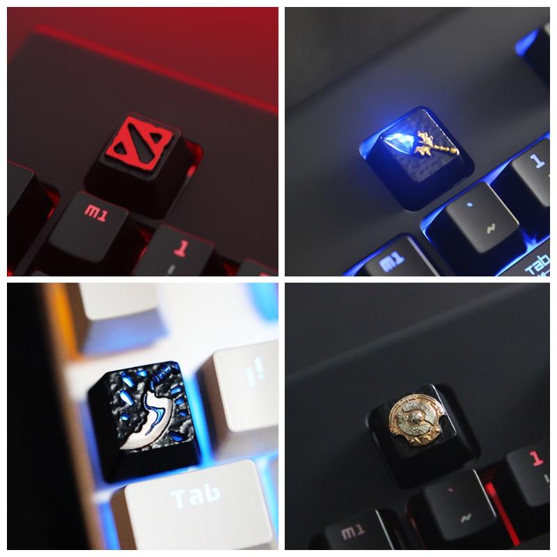 Keycap 1 pcs Dota2 Zinc-aluminum key cap mechanical keyboard keycaps for personalization,R4 Keycap height
