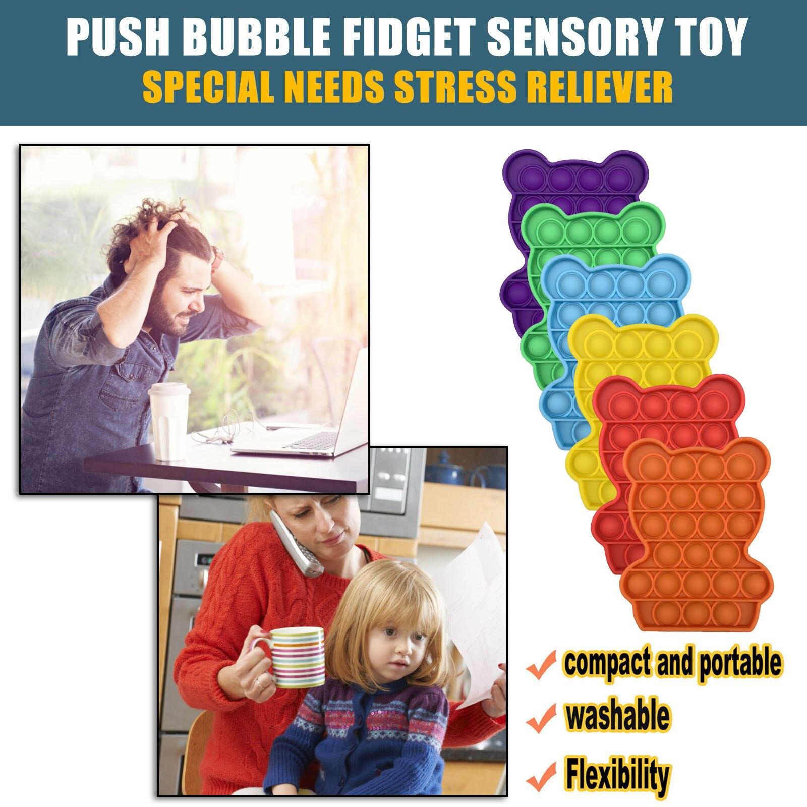 Toys Adult Needs Pops-It-Fidget Anti-Stress Push-Pops Bubble-Sensory-Toy Funny Squishy img2