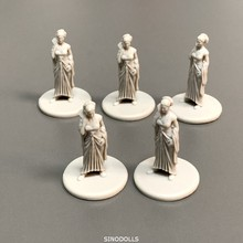 Lot 5PCS Females Board Games Miniatures Warsgame Role Playing Figures PVC Toys Collection new 4pcs heroes board games nolzur s marvelous miniatures warsgame role playing figures pvc toys collection