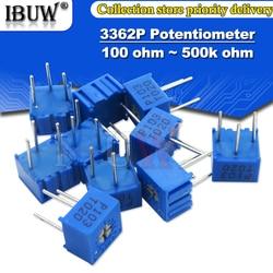 10PCS 3362P resistência 101 201 501 102 202 502 103 Aparador Potenciômetro 3362 K 2 500R 1 Trimpo K 50 20 10 5K K K K 100K