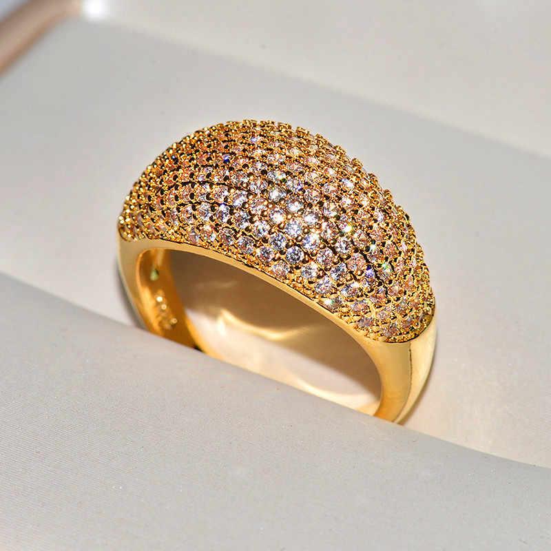 Niedliche Weibliche Kleine Zirkon Stein Ring Vintage 18KT Rose Gold Farbe Hochzeit Ring Versprechen Liebe Engagement Ringe Für Frauen