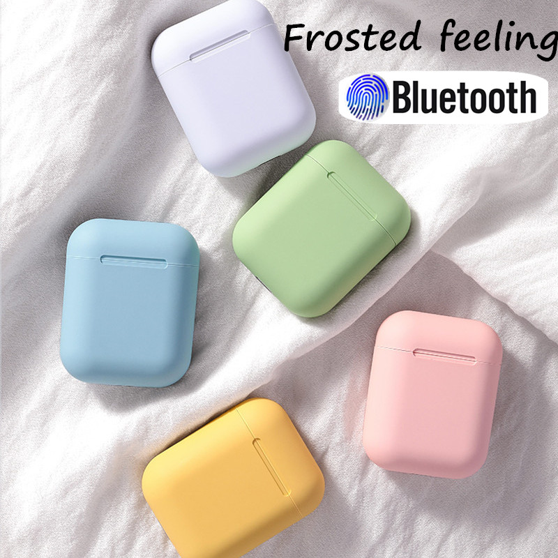 Bluetooth Earphone Wireless Earbuds I12 Tws Frosted Hands Free Business Earpieces Sport Headset Music For All Smartphones